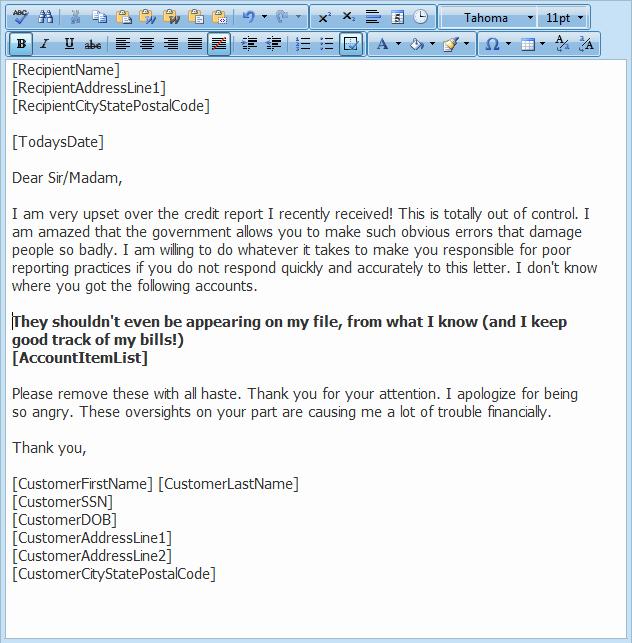 Sample Credit Repair Letter Best Of Credit Repair Letter Library Free Credit Repair Letters