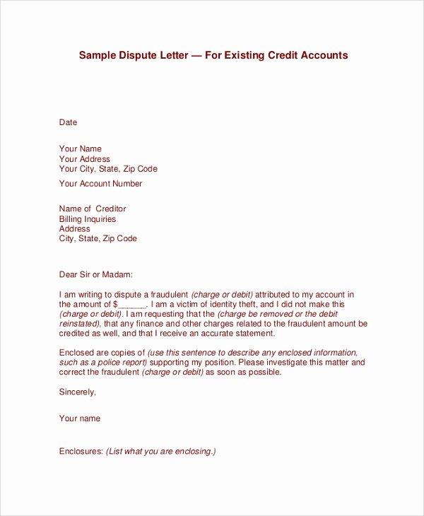 Sample Credit Repair Letter Fresh 23 Sample Letters