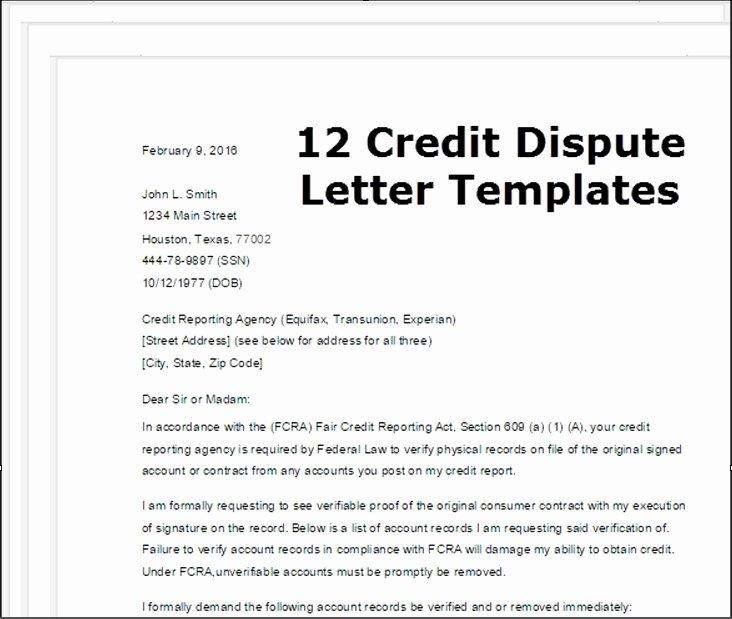 Sample Credit Repair Letter Lovely Sample Dispute Letter to Credit Bureau Letter Of