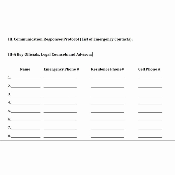 tips and template for developing a crisis management plan