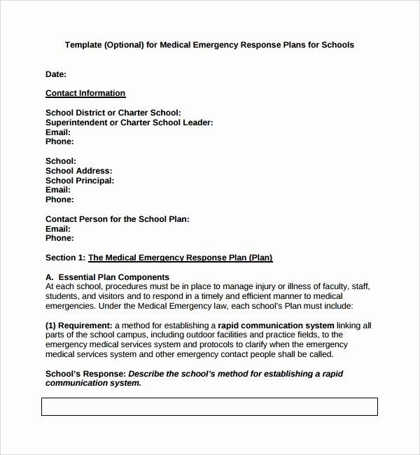 Sample Crisis Communication Plan Template Lovely Sample Emergency Response Plan Template 9 Free