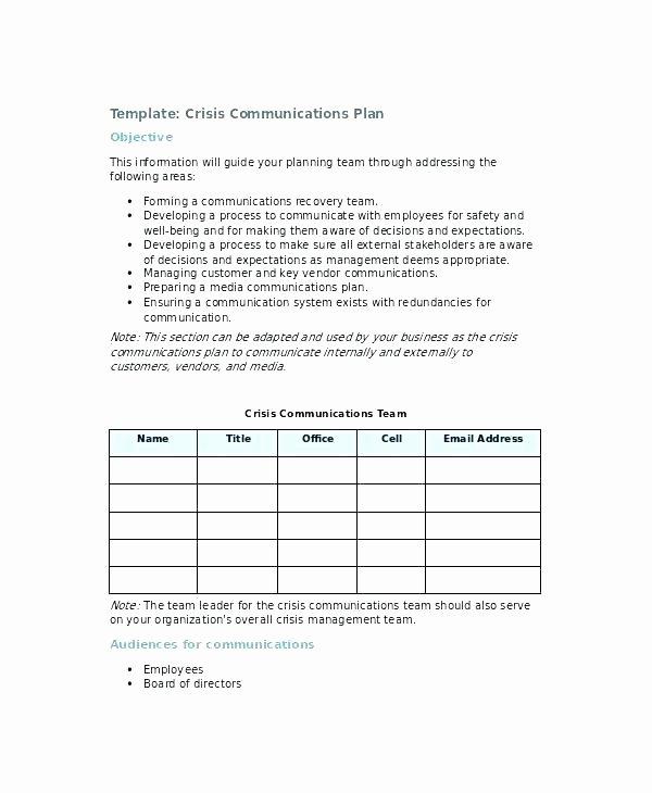 Sample Crisis Communication Plan Template Lovely School Munication Plan Template Example Crisis