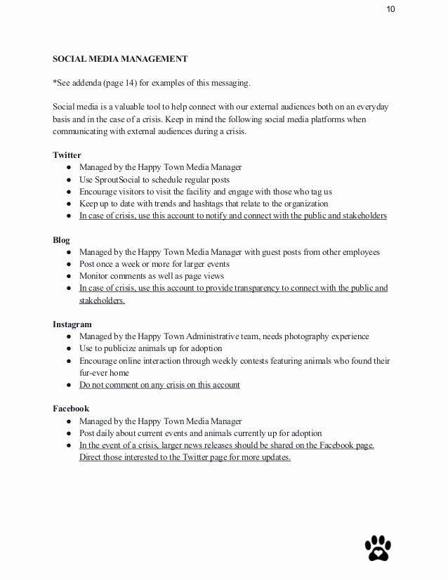 Sample Crisis Communication Plan Template Unique Crisis Munication Plan Sample