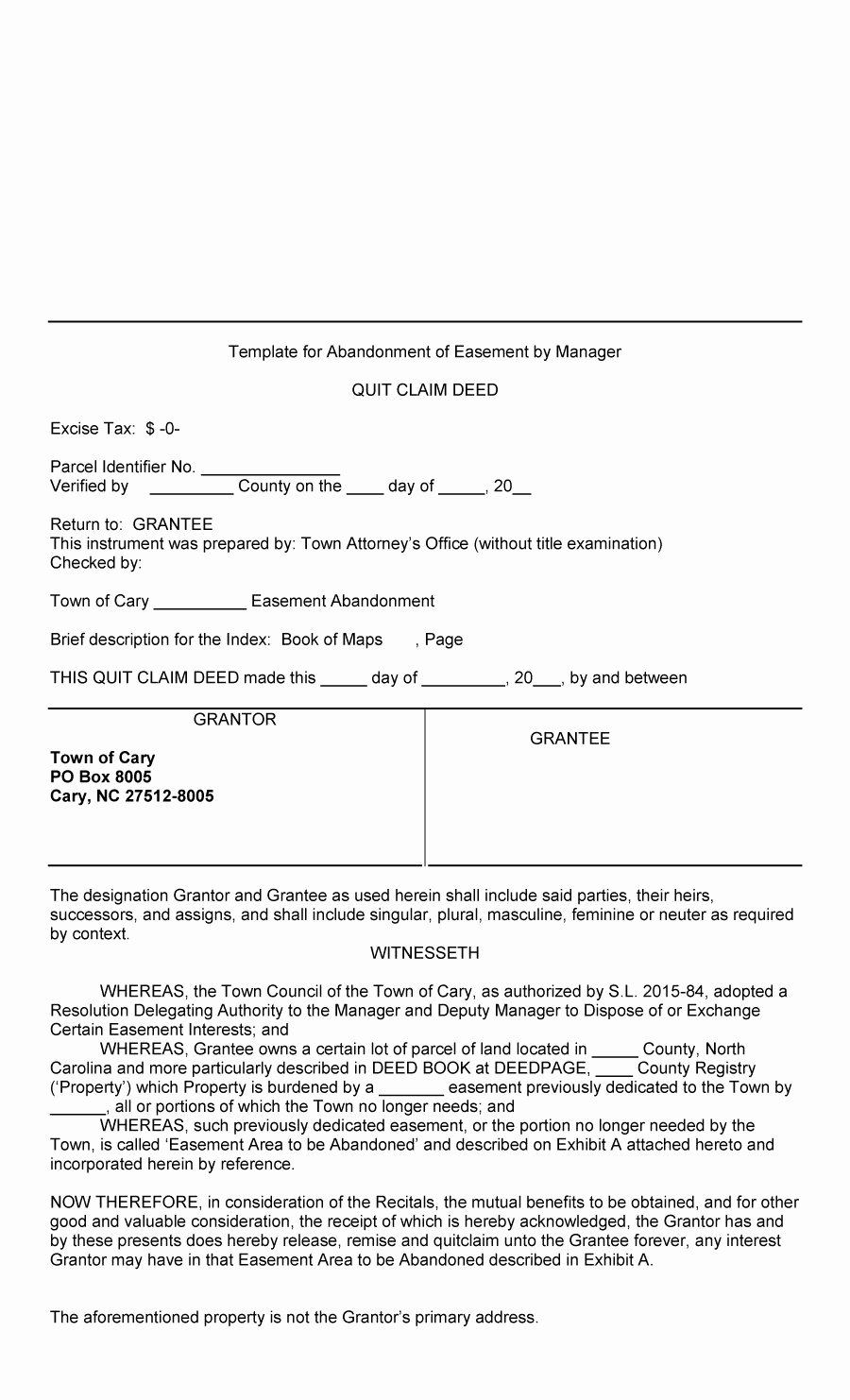 Sample Driveway Easement Agreement Awesome 47 Free Quit Claim Deed forms & Templates Free Template