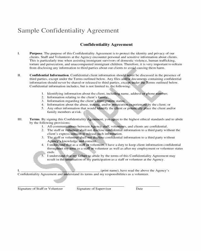 Sample Driveway Easement Agreement Fresh 2018 Confidentiality Agreement Template Fillable