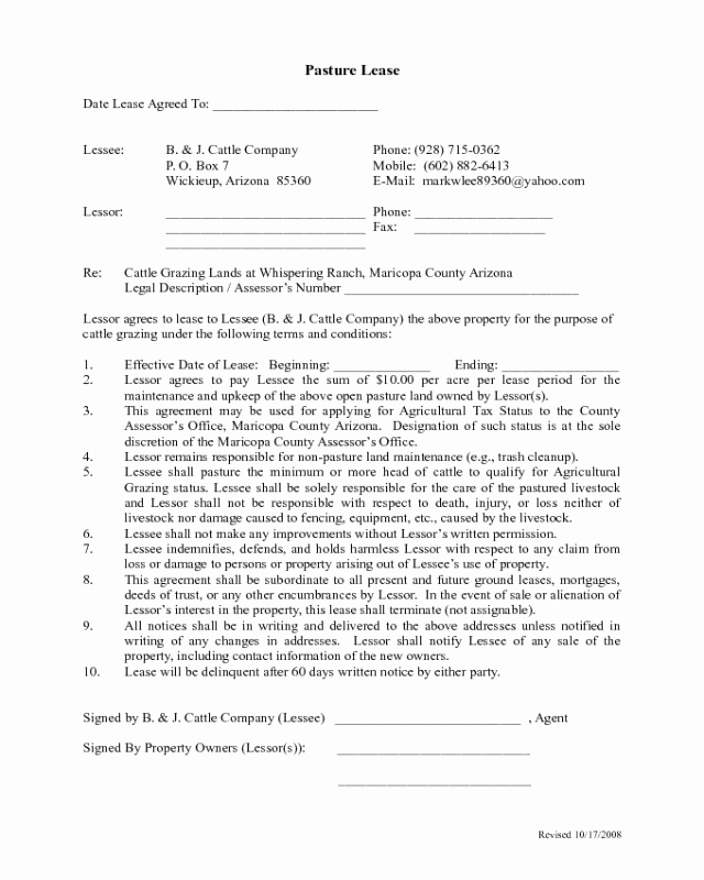 Sample Driveway Easement Agreement Luxury 2019 Pasture Lease Agreement Fillable Printable Pdf
