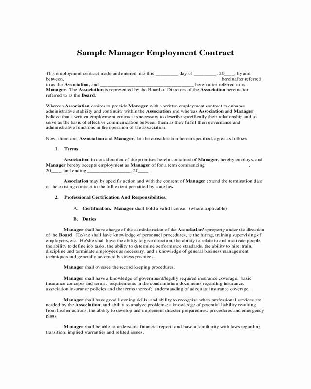 Sample Driveway Easement Agreement Unique 2019 Employment Agreement form Fillable Printable Pdf