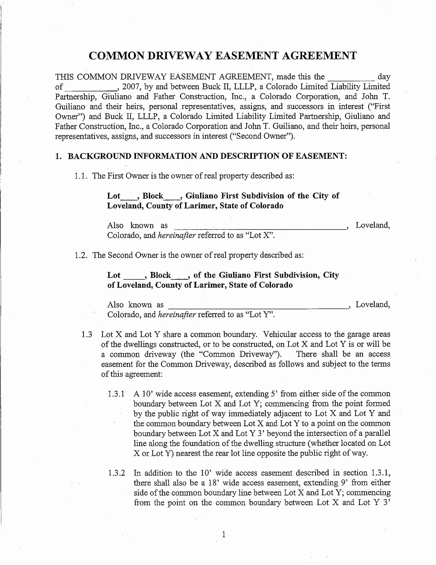 Sample Easement Agreement Awesome 10 Easement Agreement Contract forms Pdf