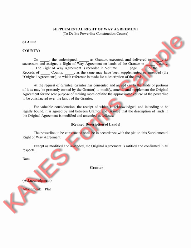 Sample Easement Agreement Fresh Sample Easement Language