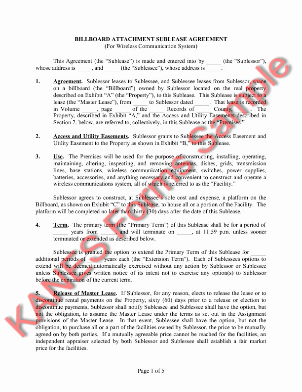 Sample Easement Agreement Inspirational Sample Easement Language