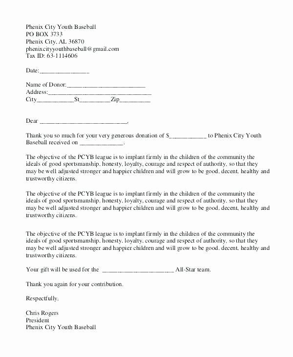 Sample Fundraising Letter for Mission Trip New Baseball Fundraising Letter Templates