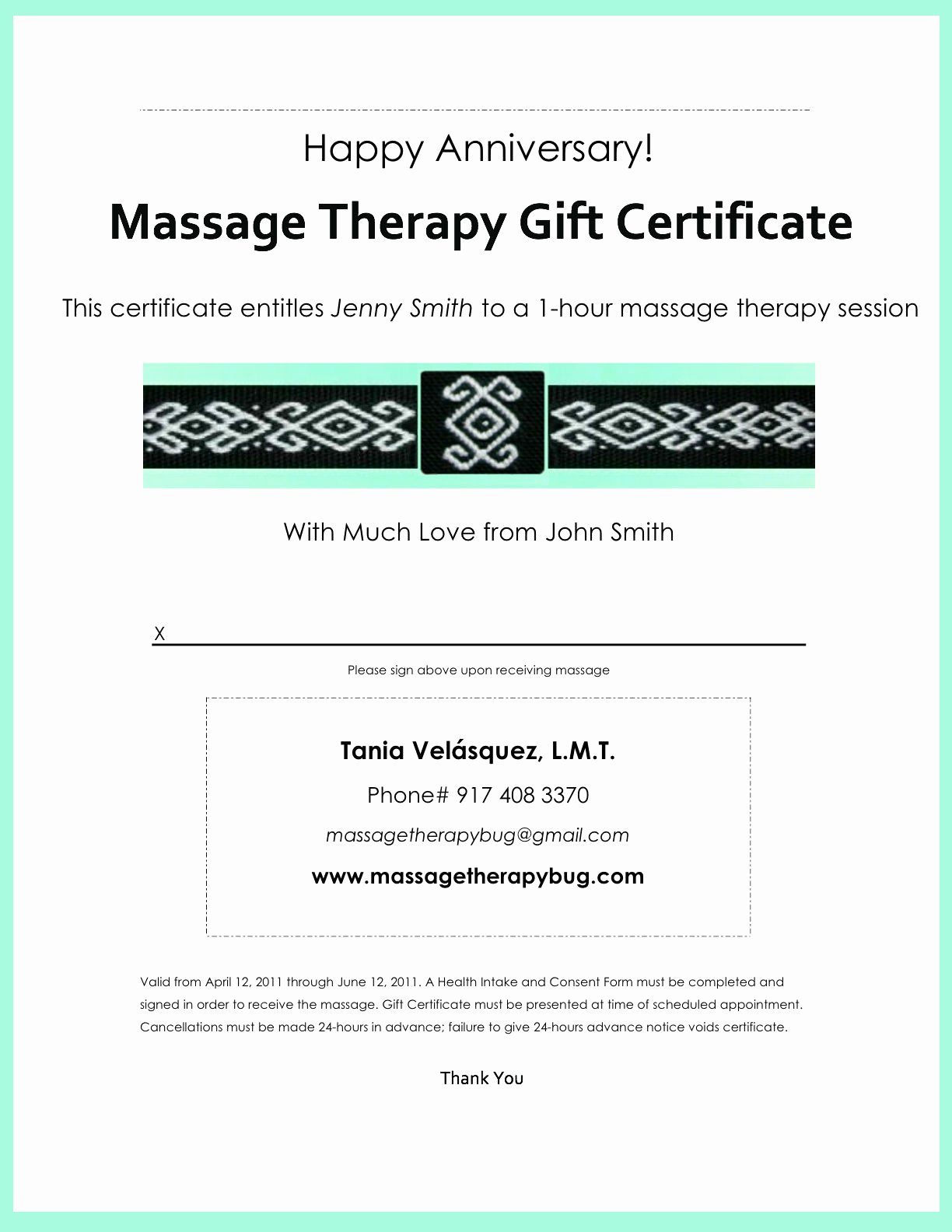Sample Gift Certificate Wording Awesome Gift Certificates – Tania Velásquez Lmt