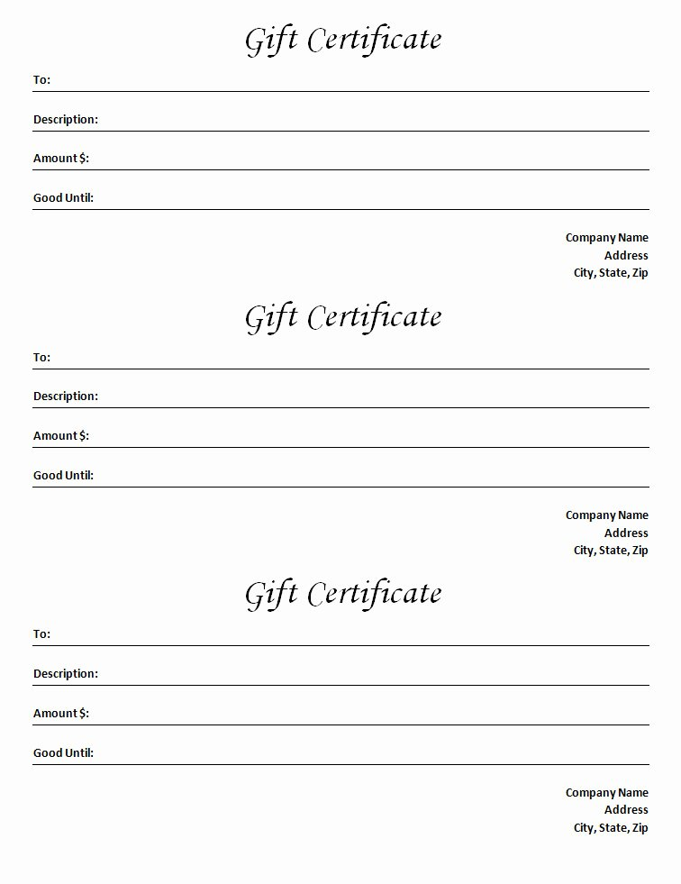 Sample Gift Certificate Wording Elegant Gift Certificate Template Blank Microsoft Word Document