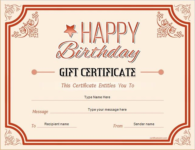 Sample Gift Certificate Wording Luxury Birthday Gift Certificate Sample Templates for Word
