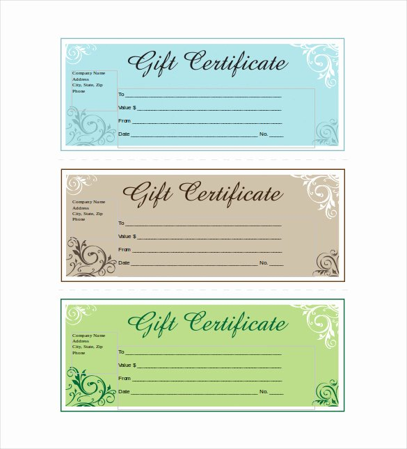 Sample Gift Certificate Wording New 14 Business Gift Certificate Templates Free Sample