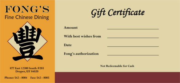 Sample Gift Certificate Wording New 20 Restaurant Gift Certificate Templates – Free Sample