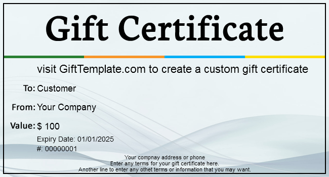 Sample Gift Certificate Wording Unique Gift Certificate Templates