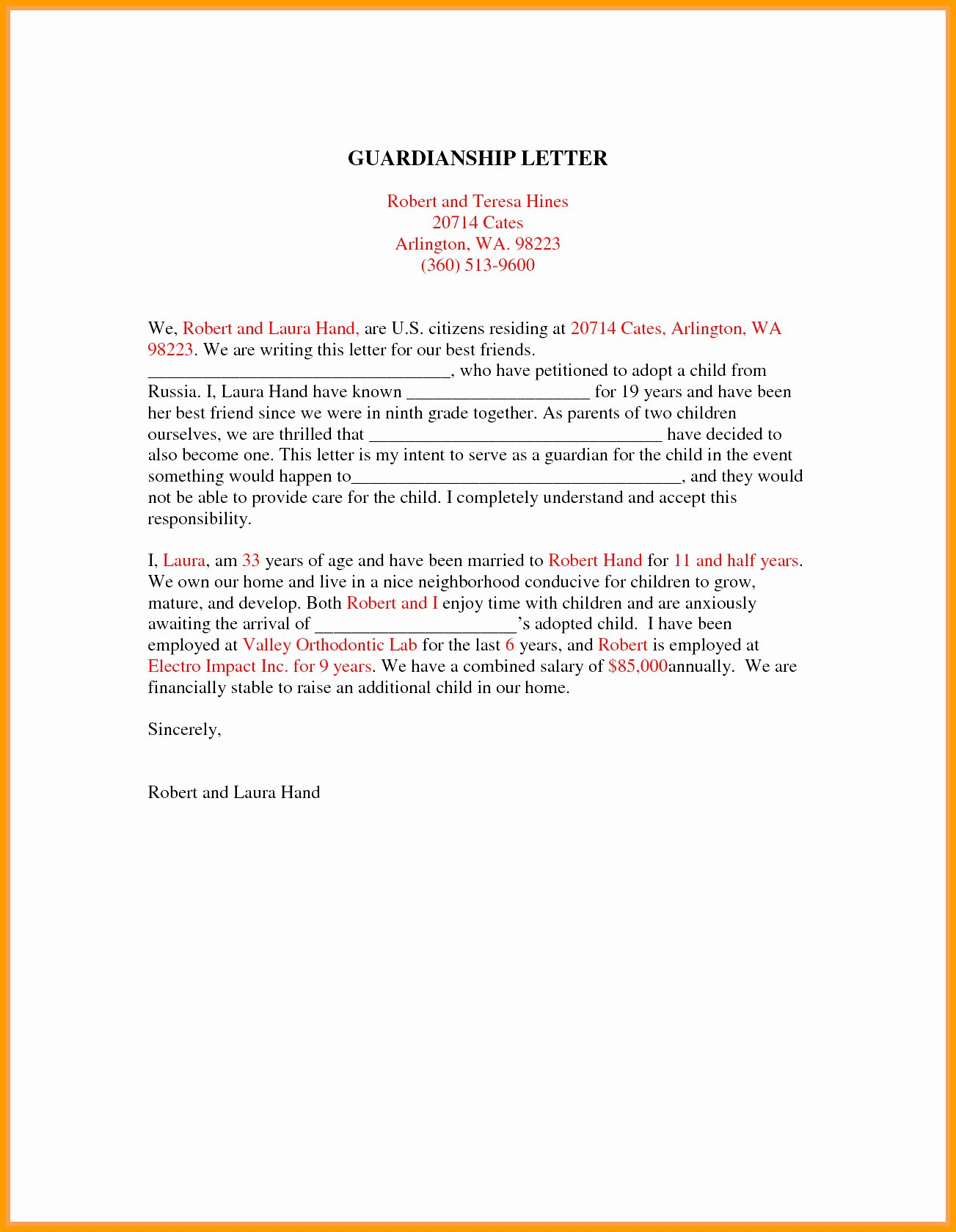 Sample Guardianship Letter In Case Of Death Luxury Template for Guardianship Letter Filename
