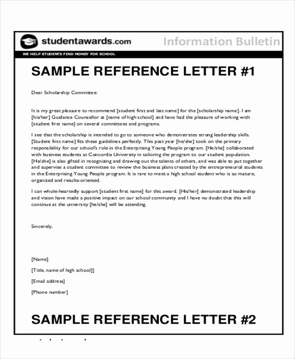 Sample High School Recommendation Letter Elegant Sample Reference Letter for Student Examples In Pdf Word
