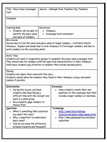 Sample Lesson Plan Template Elegant Lesson Plan format On Pinterest