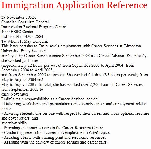 Sample Letter for Immigration Recommendation Elegant Letters Of Reference October 2012