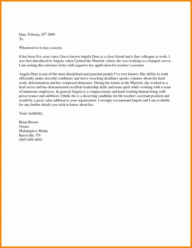 Sample Letter for Immigration Recommendation Inspirational Support Letter Sample for Immigration