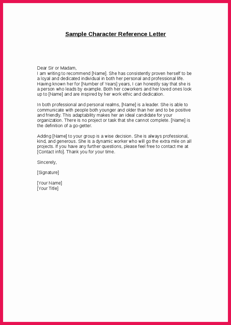 Sample Letter for Immigration Recommendation Lovely Good Moral Character Letter