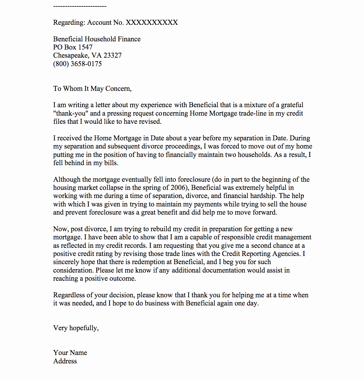 Sample Letter Of Explanation for Buying Second Home Beautiful Notice to Explain Goodwill Letters A Note Can Get Credit