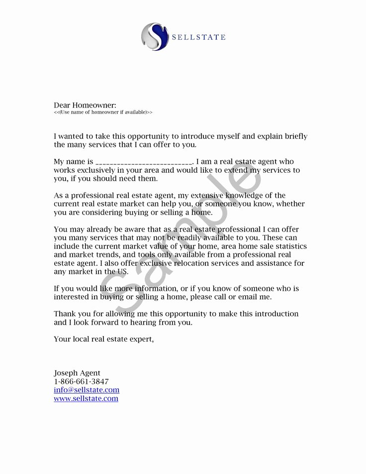 Sample Letter Of Explanation for Buying Second Home Elegant Real Estate Letters Of Introduction Introduction Letter
