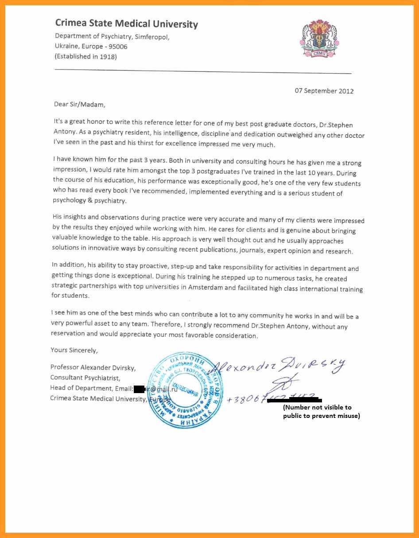 Sample Letter Of Recommendation Residency Best Of Eras Letter Of Re Mendation Sample