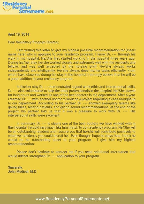 Sample Letter Of Recommendation Residency Best Of Write A Letter Of Re Mendation for Residency