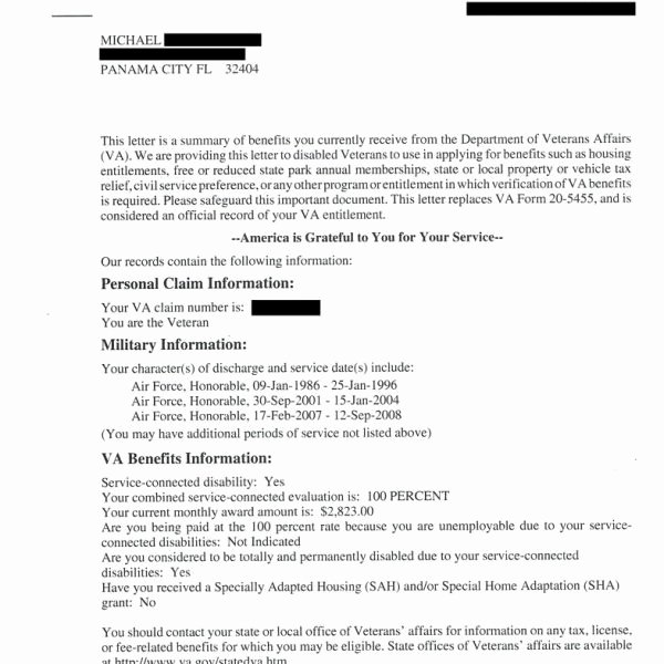 Sample Letter to Va for Disability Fresh New Va Benefits Letter In P&t – Permanent & total