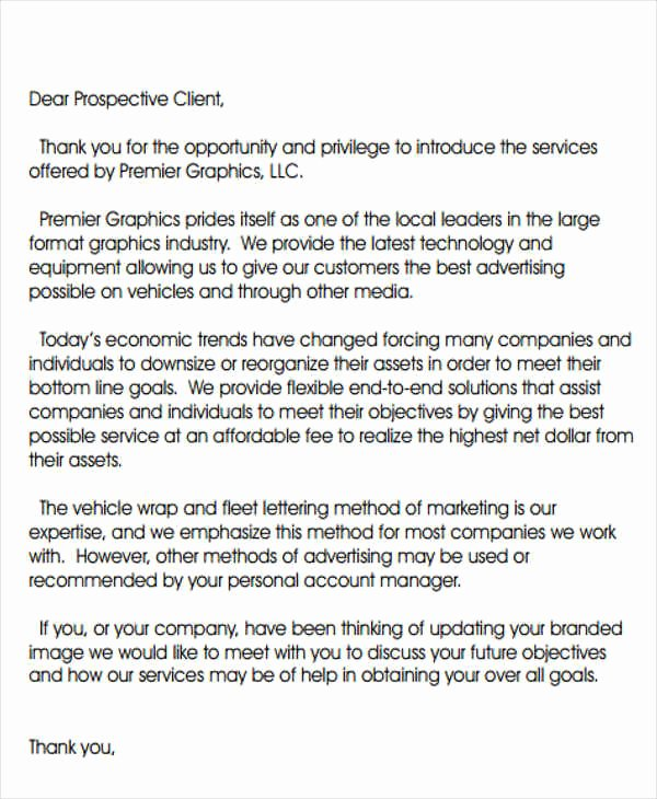 Sample Marketing Letters to Potential Clients Unique Introduction Letter Template 8 Free Sample Example
