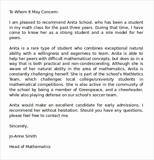 Sample Medical School Recommendation Letter Fresh Letters Of Re Mendation 17 Free Documents In Doc