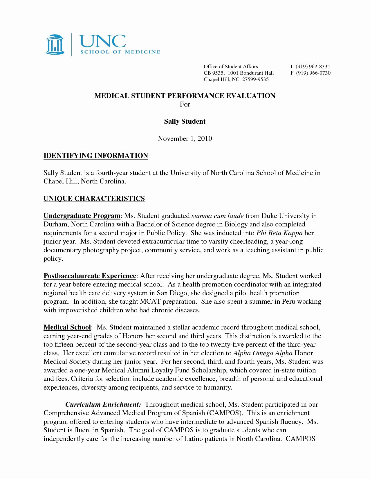 Sample Medical School Recommendation Letter Unique Sample Re Mendation Letter for Medical Graduate School