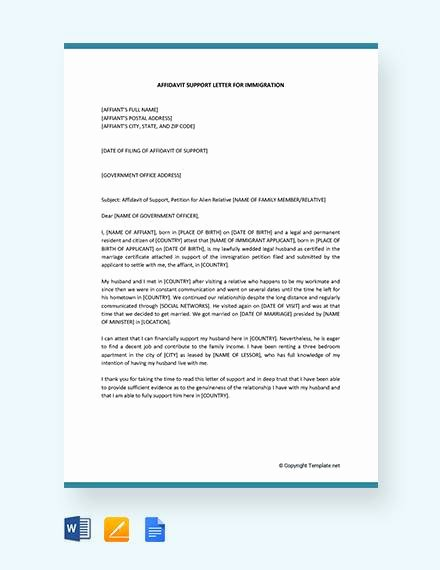 Sample Of Affidavit Of Support Letter Inspirational 12 Affidavit Samples Doc Pdf