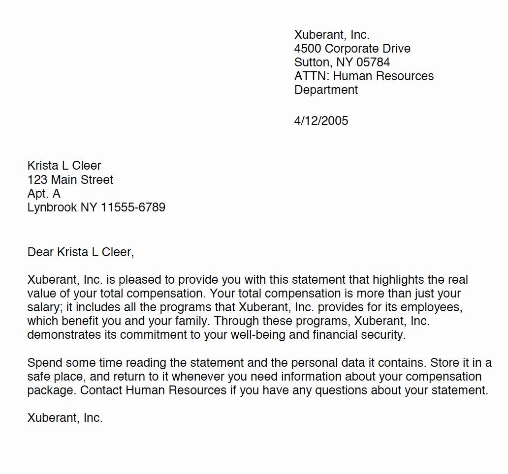 Sample Open Enrollment Letter to Employees Fresh Benecept Brokerage Services