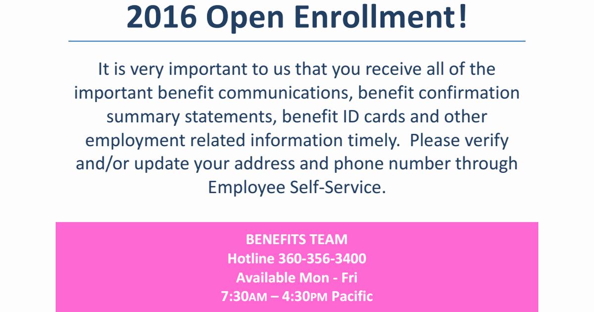 Sample Open Enrollment Letter to Employees Luxury Collection Open Enrollment Memo to Employees S