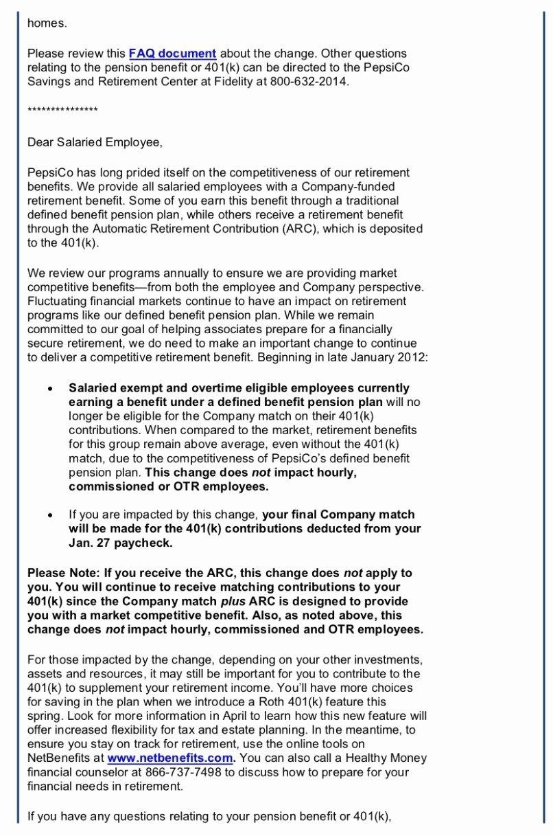 Sample Open Enrollment Letter to Employees Unique 401k Open Enrollment Letter Sample