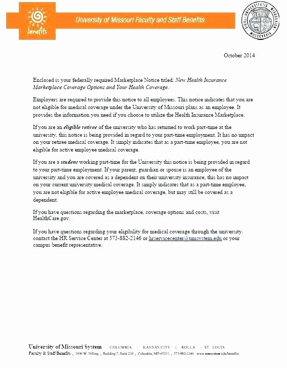 Sample Open Enrollment Letter to Employees Unique Cobra Letter Template 2014 Open Enrollment Letter to