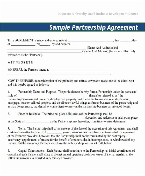 Sample Partnership Agreement California Beautiful 70 Agreement Examples