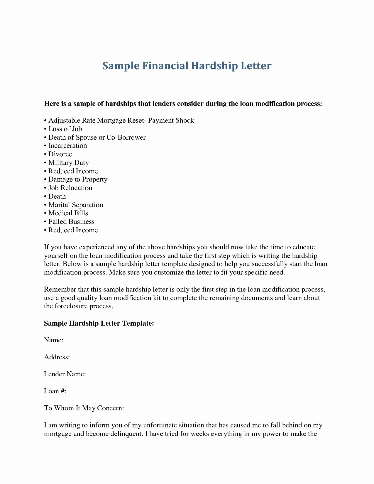 Sample Payment Shock Letter New Mortgage Payment Shock Letter Template Collection