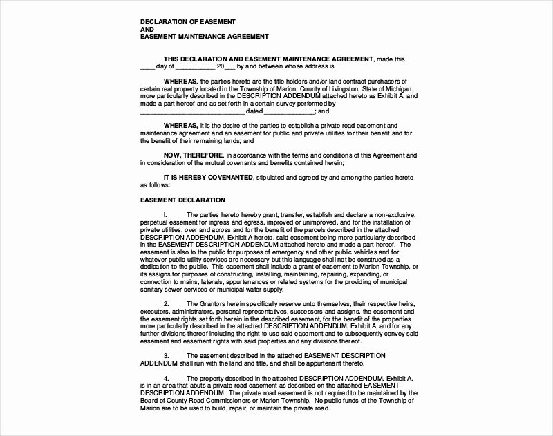 Sample Private Road Maintenance Agreement Beautiful 14 Maintenance Agreement Examples & Samples Pdf Doc