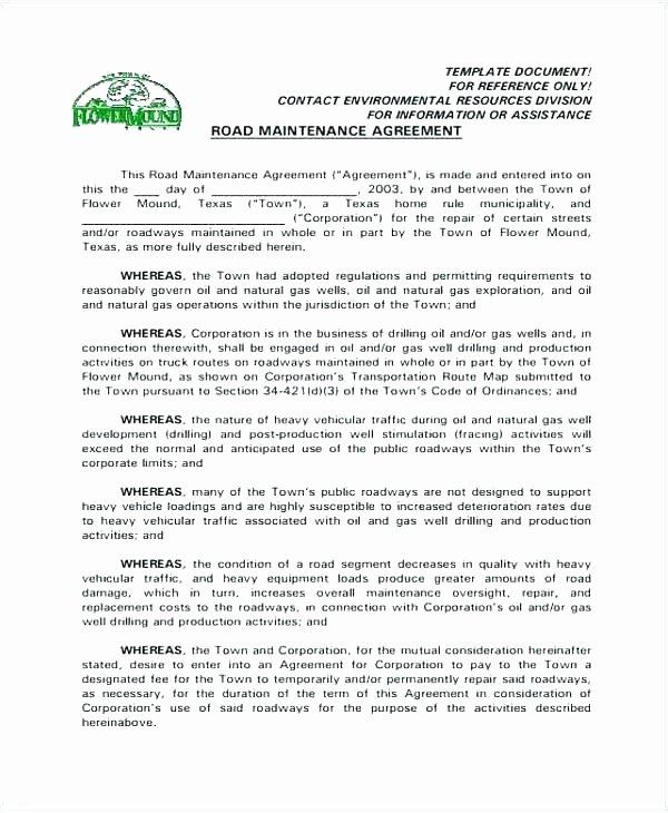 Sample Private Road Maintenance Agreement Lovely Tenancy Agreement Sample Doc – Designtruck