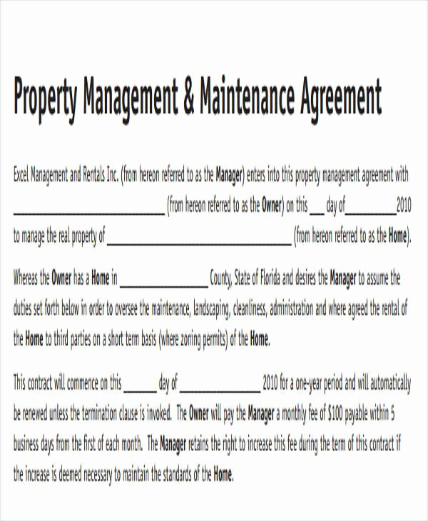 Sample Private Road Maintenance Agreement Unique 9 Maintenance Agreement – Free Downloadable Samples