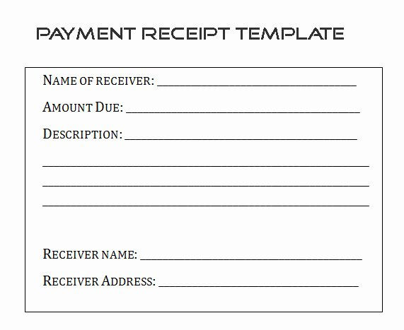Sample Receipt for Cash Payment Awesome Sample Payment Receipt form Template by Builder