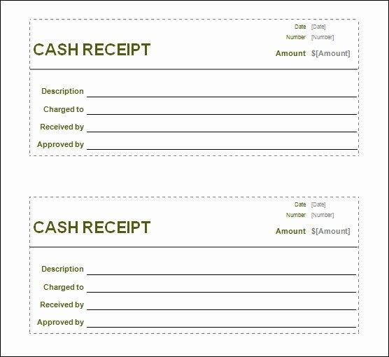 Sample Receipt for Cash Payment Inspirational 13 Blank Receipt Template