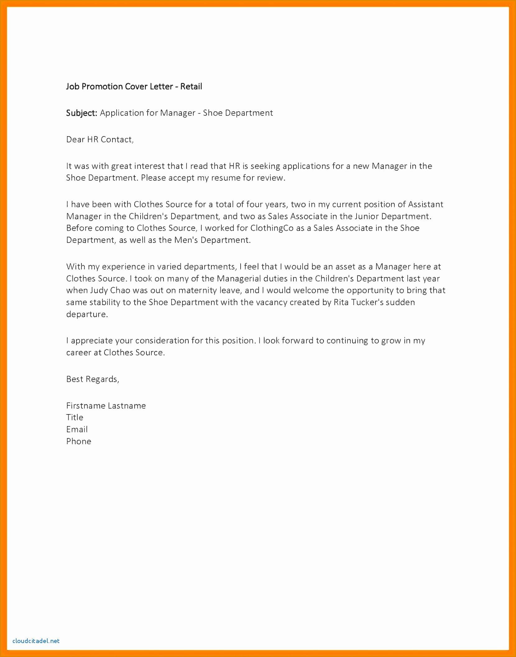 Sample Recommendation Letter for Promotion Inspirational 12 Letter Of Re Mendation for Promotion