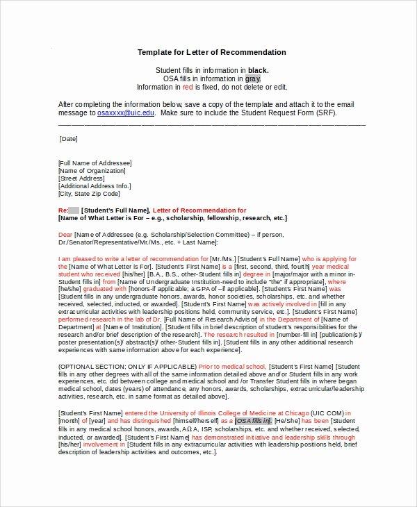 Sample Recommendation Letter for Scholarship New Sample Scholarship Re Mendation Letter 7 Examples In
