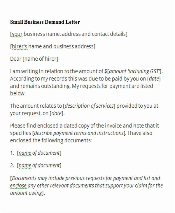 Sample Small Claims Demand Letter Lovely Free Demand Letters